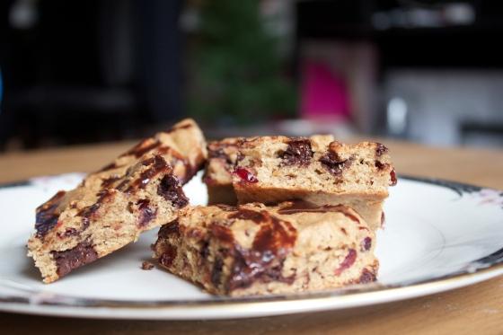 blondies, brownies, cookies, cranberry, cranberries, chocolate, cardamom, blondie, baking