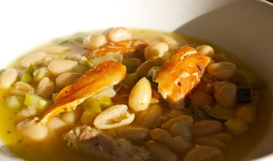 Mackerel, fish, soup, stew, tarragon, bean, cannelini, vegetable