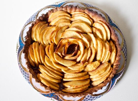 Gluten, free, apple, and, raspberry, jam, tart, hazelnut, crust, pastry, easy, recipe, simple