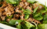 Slow Roasted, Harissa, Lamb, wraps, gluten free, citrus, honey, lemon, spinach, gluten free,