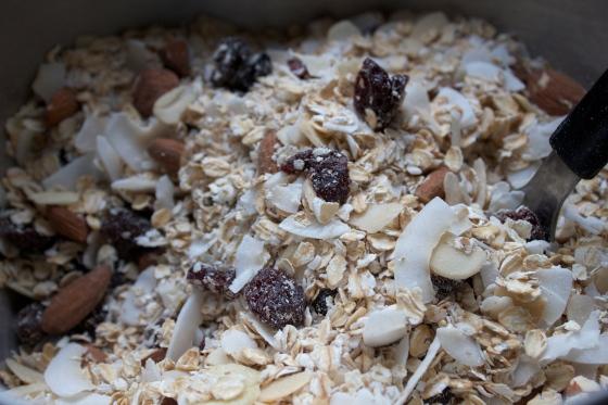 granola, gluten free, cherry, coconut