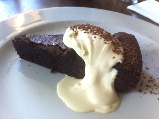 chocolate and almond, cake, gluten free, swan at wedmore, dessert, gluten free dining, review, uk