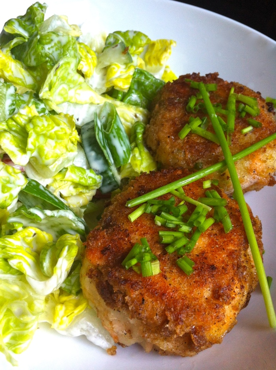 Gluten Free Salmon Fishcakes with Lemon Zest and Chives