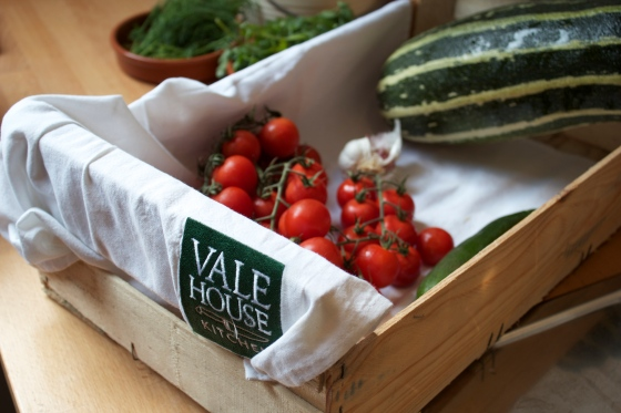 homegrown vegetables, vale house kitchen