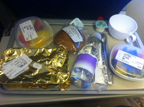 British Airways ,gluten free, meal