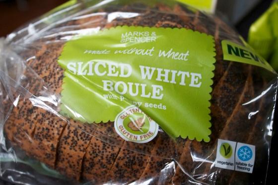 gluten free, sliced, boule, poppy seed