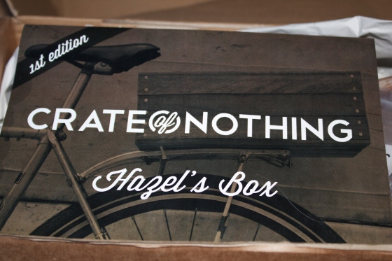 Crate of nothing, hazel's box, gluten free