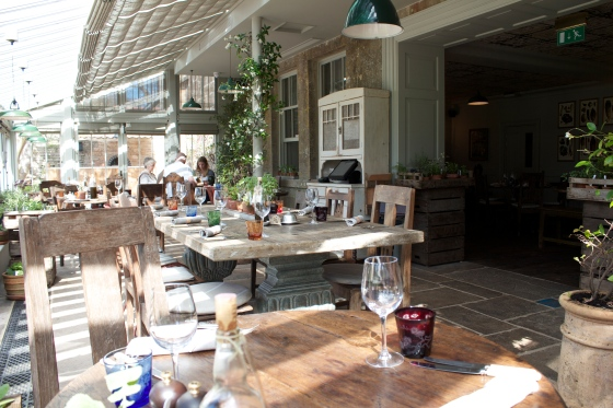 The Pig Hotel, bath, orangery restaurant