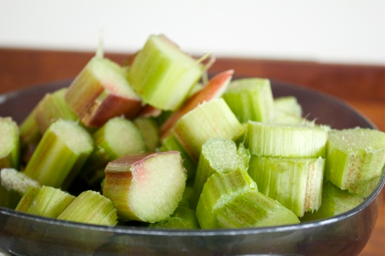 Rhubarb, chopped, gluten free blog uk,