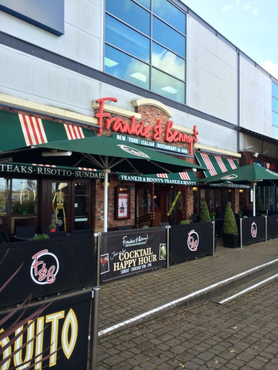 Frankie and Benny's, Gluten Free Menu, gluten free blog, review