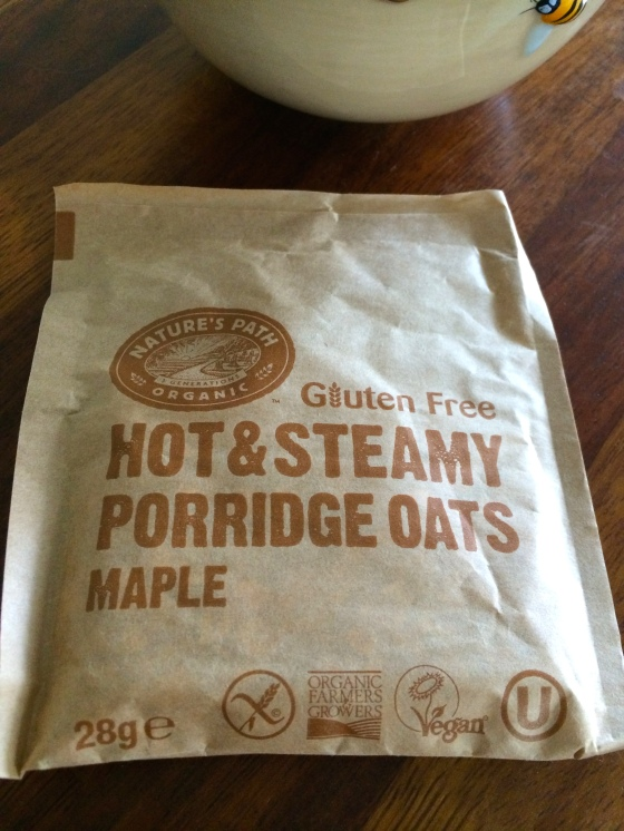 Nature's Path, gluten free, Porridge Oats, review, gluten free, spiced apple, maple