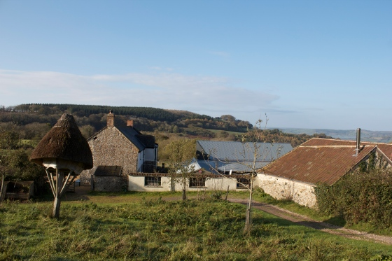 River cottage, farm view