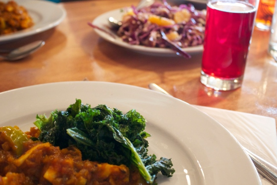 Lunch , gluten free, River cottage. Vegetable tagine, kale