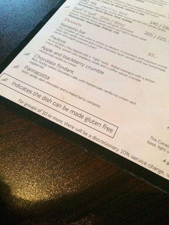 gluten free, menu, copenhagen