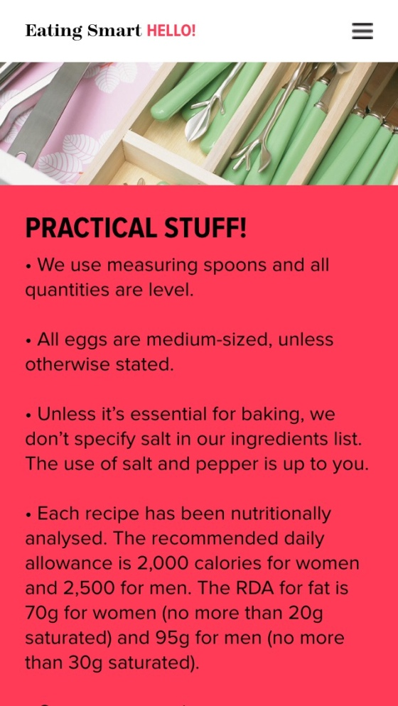 Eating Smart, gluten free, woman & home, dairy free, app, recipes,