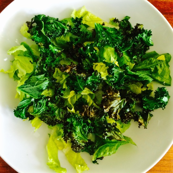 ... cooking with, spring onions and kale were in abundance- and still are