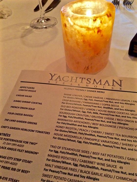 Gluten Free, Yachtsman Steakhouse