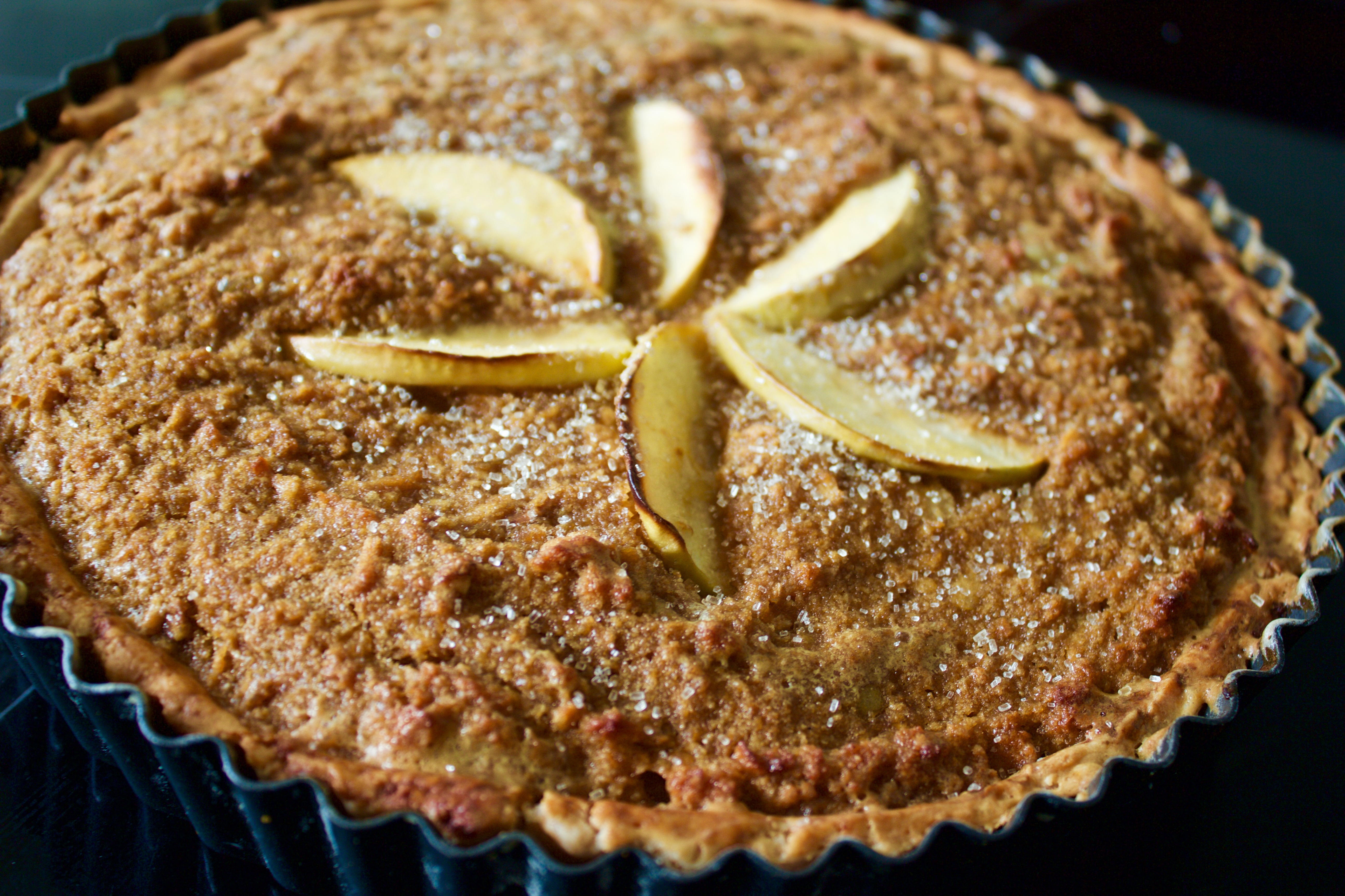 Gluten free Spiced Cider Apple Treacle Tart | Wuthering Bites